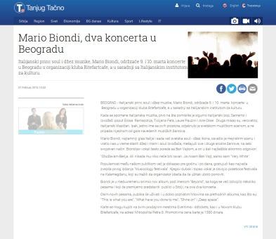 0102 - tanjug.rs - Mario Biondi, dva koncerta u Beogradu