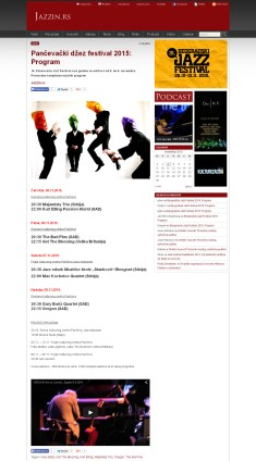 0211 - jazzin.rs - Pancevacki dzez festival 2015- Program