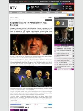 0211 - rtv.rs - Legende dzeza na 18. Pancevakcom Jazz Festivalu