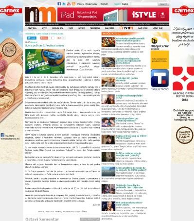 0212 - novimagazin.rs - Sutra pocinje 9. Festival nauke