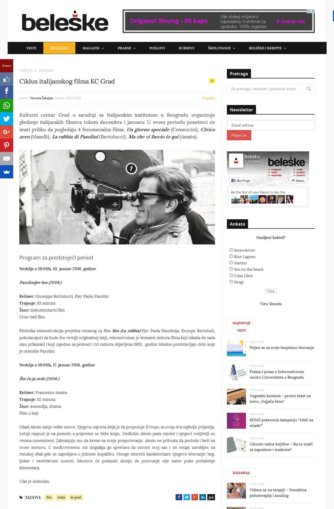 0301 - beleske.com - Ciklus italijanskog filma KC Grad