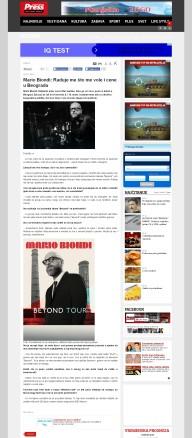0303 - pressonline.rs - Mario Biondi- Raduje me sto me vole i cene u Beogradu