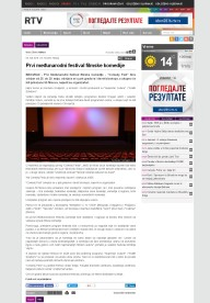 0505 - rtv.rs - Prvi medjunarodni festival filmske komedije