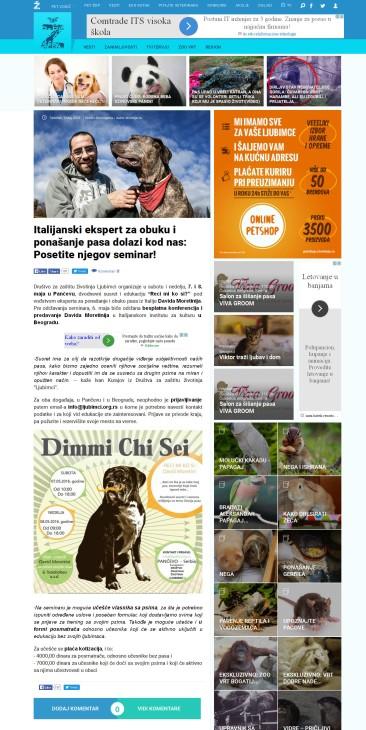 0505 - zivotinje.rs - Italijanski ekspert za obuku i ponasanje pasa dolazi kod nas