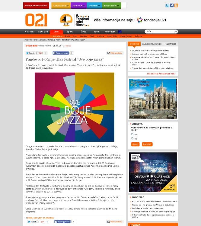 0511 - 021.rs - Pancevo- Pocinje dzez festival Sve boje jazza