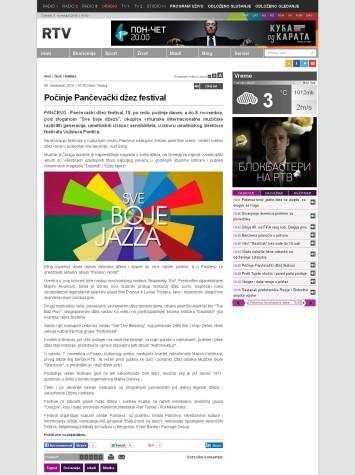 0511 - rtv.rs - Pocinje Pancevacki dzez festival