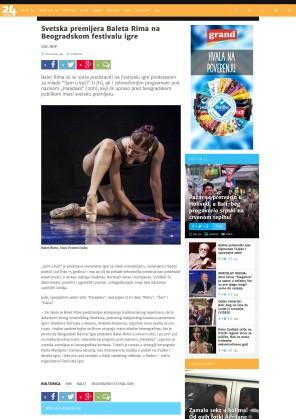 0604 - 24sata.rs - Svetska premijera Baleta Rima na Beogradskom festivalu igre