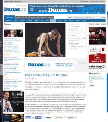 0604 - danas.rs - Balet Rima prvi put u Beograd