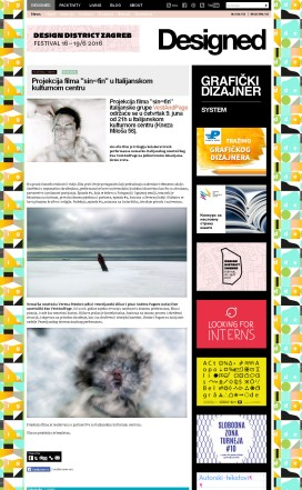 0606 - designed.rs - Projekcija filma sin fin u Italijanskom kulturnom centru