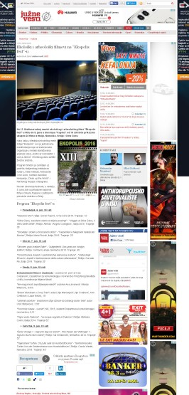 0606 - juznevesti.com - Ekoloski i arheoloski filmovi na Ekopolis fest-u