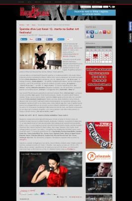 0703 - rocksvirke.com - Spanska diva Luz Kasal 12. marta na Guitar Art festivalu!