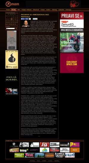 0710 - izlazak.com - PROGRAM 18. PANCEVACKOG JAZZ FESTIVALA