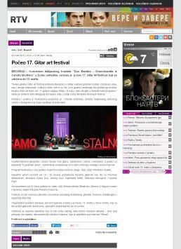0803 - rtv.rs - Poceo 17. Gitar art festival