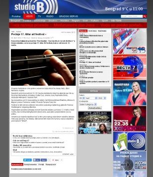 0803 - studiob.rs - Pocinje 17. Gitar art festival