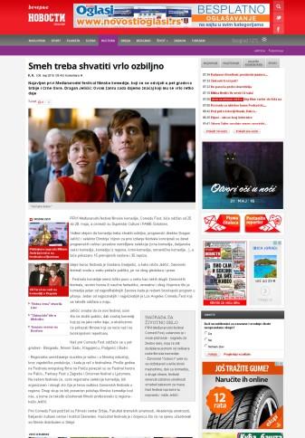 0805 - novosti.rs - Smeh treba shvatiti vrlo ozbiljno
