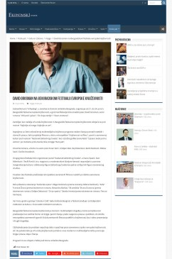 0806 - ekonomski.net - David Grosman na Beogradskom festivalu evropske knjizevnosti