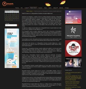 0806 - izlazak.com - David Grosman na 5. Beogradskom festivalu evropske knjizevnosti