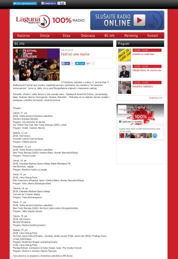 0806 - lagunaradio.rs - Festival rane muzike