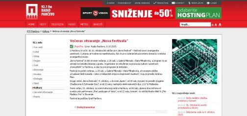 0810 - rtvpancevo.rs - Veceras otvaranje Nova festivala