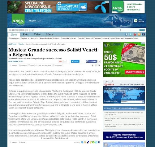 0812 - ansamed.info - Musica- Grande successo Solisti Veneti a Belgrado - Veneto