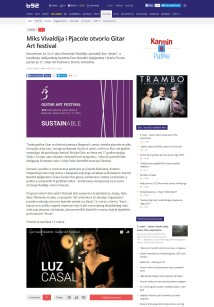 0903 - B92.net - Miks Vivaldija i Pjacole otvorio Gitar Art festival