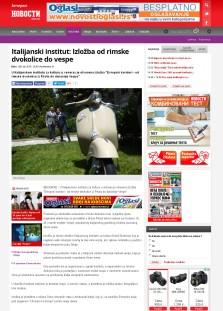 0906 - novosti.rs - Italijanski institut- Izlozba od rimske dvokolice do vespe