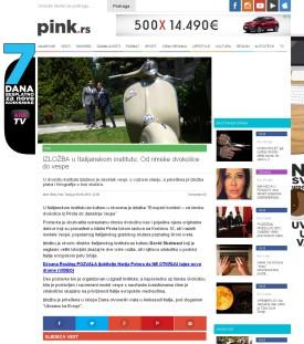 0906 - pink.rs - IZLOZBA u Italijanskom institutu- Od rimske dvokolice do vespe