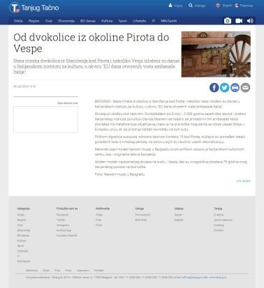 0906 - tanjug.rs - Od dvokolice iz okoline Pirota do Vespe