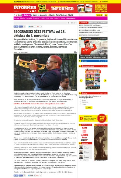 0910 - informer.rs - BEOGRADSKI DZEZ FESTIVAL od 28. oktobra do 1. novembra