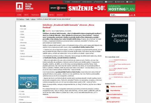 0910 - rtvpancevo.rs - Izlozbom Dvadeset lakih komada otvoren Nova festival