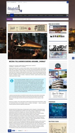 0911 - gradskimagazin.rs - MUZIKA ITALIJANSKOG BAROKA ANSAMBL PARNAS
