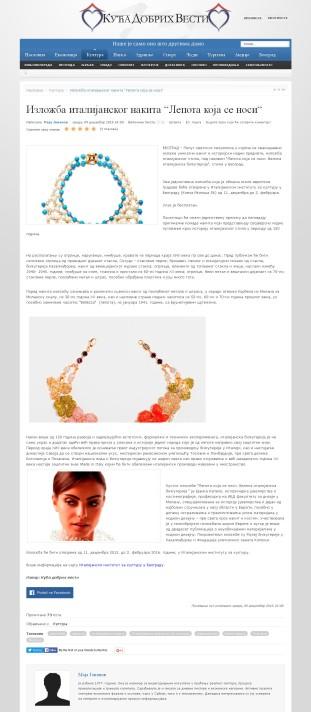 0912 - dobrevesti.rs - Izlozba italijanskog nakita Lepota koja se nosi