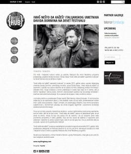 1006 - g12hub.com - Imas nesto da kazes italijanskog umetnika Davida Dormina na Devet festivalu