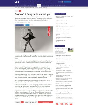 1104 - b92.net - Zavrsen 13. Beogradski festival igre