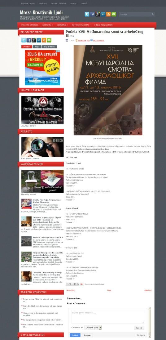 1104 - mrezakreativnihljudi.com - Pocela XVII Medjunarodna smotra arheloskog filma