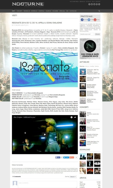 1104 - nocturnemagazine.net - RESONATE 2016 od 12. do 16. aprila u Domu omladine