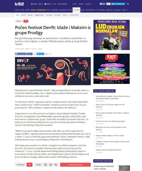 1106 - b92.net - Poceo festival Dev9t- Izlaze i Maksim iz grupe Prodigy
