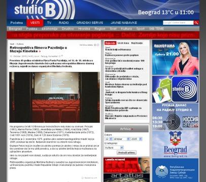 1210 - studiob.rs - Retrospektiva filmova Pazolinija u Muzeju Kinoteke