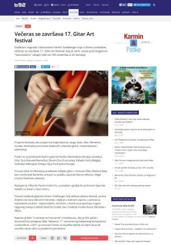 1303 - b92.net - Veceras se zavrsava 17. Gitar Art festival