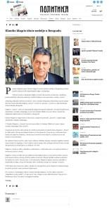 1401 - politika.rs - Klaudio Magris iduce nedelje u Beogradu
