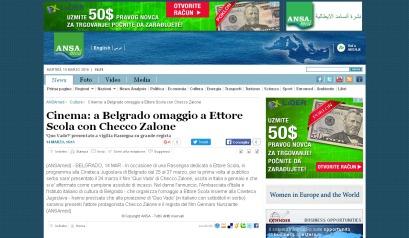1403 - ansamed.info - Cinema a Belgrado omaggio a Ettore Scola con Checco Zalone