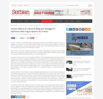 1410 - serbianmonitor.com - Istituto italiano di cultura di Belgrado festeggia XV settimana della lingua italiana nel mondo