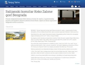 1503 - tanjug.rs - Italijanski komicar Keko Zalone gost Beograda