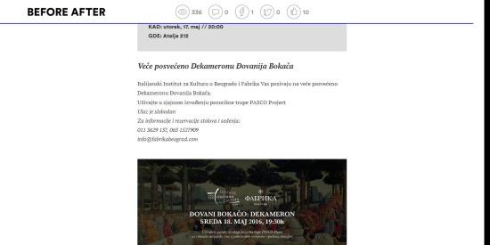1505 - beforeafter.rs - Gradska desavanja Vece posveceno Dekameronu Djovanija Bokaca 1