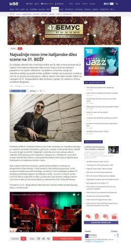1910 - b92.net - Najvaznije novo ime italijanske dzez scene na 31. BDZF