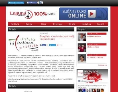 2004 - radiolaguna.rs - Okrugli sto novinarstvo, novi mediji i italijanski jezik