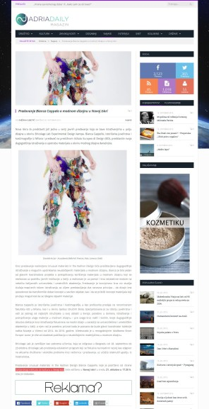 2010 - adriadaily.com - Predavanje Biance Cappelo o modnom dizajnu u Novoj iskri