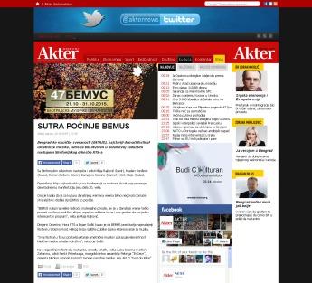 2010 - akter.co.rs - Sutra pocinje BEMUS