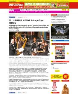 2010 - informer.rs - ZA LJUBITELJE KLASIKE Sutra pocinje BEMUS
