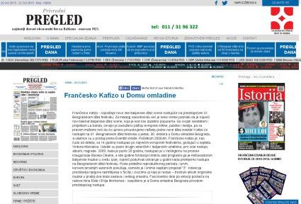 2010 - pregled.rs - Francesko Kafizo u Domu omladine